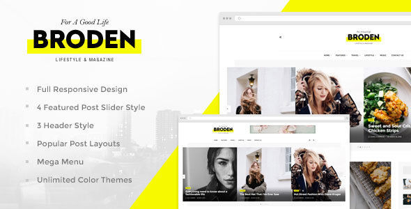 Broden by Evolle (magazine WordPress theme)