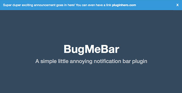BugMeBar by PluginHero (WordPress advertising plugin)