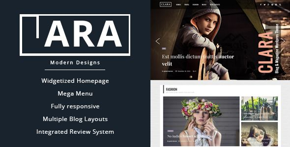 Clara by Gowordpress (magazine WordPress theme)
