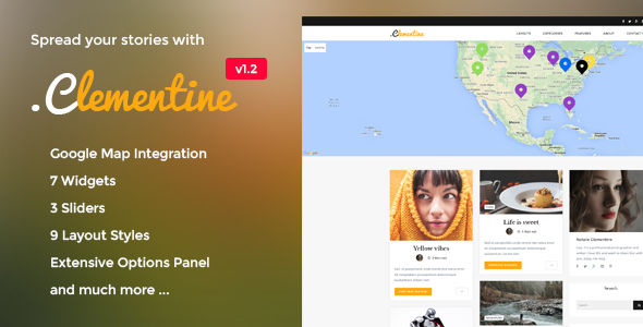 Clementine by Andrewdevelopments (magazine WordPress theme)