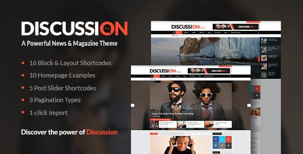 Discussion by Mikado-Themes (magazine WordPress theme)