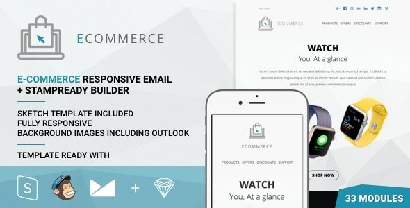E by Psd2newsletters (email templates for use with Mailchimp)