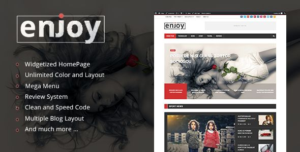 Enjoy by Kid-themes (magazine WordPress theme)