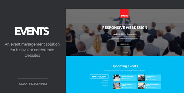 Events by TidyCustoms (event & conference WordPress theme)