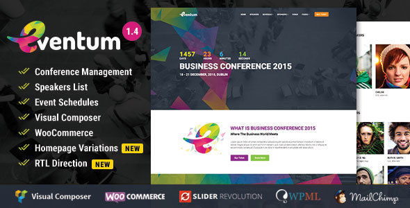 Eventum by Themeum (event & conference WordPress theme)