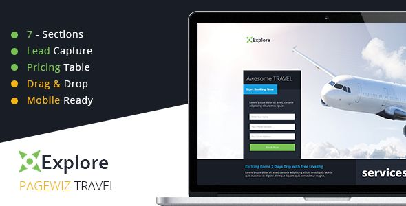 Explore by Xvelopers (landing page template for PageWiz)