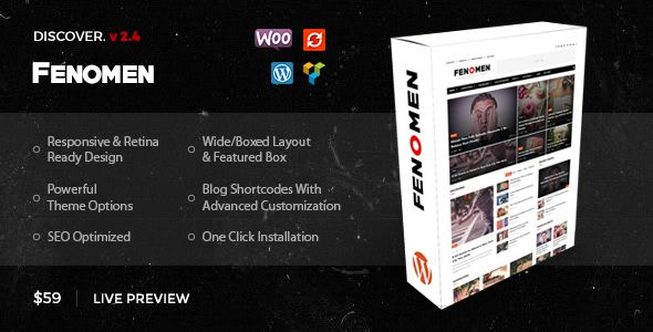 Fenomen by DivEngine (magazine WordPress theme)