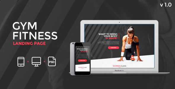 Fitness by Zular (landing page template for PageWiz)
