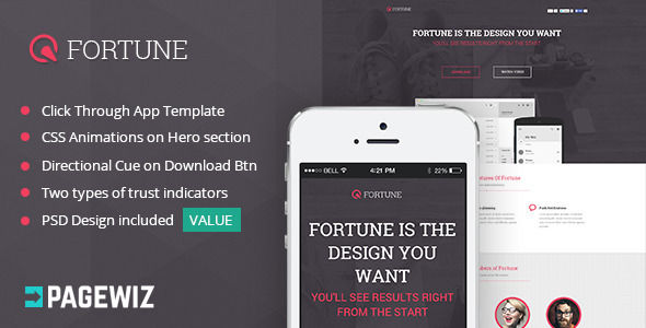 Fortune by CucuIonel (landing page template for PageWiz)