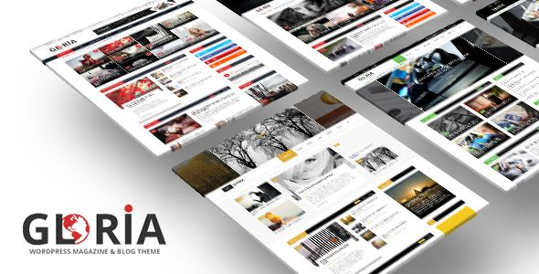 Gloria by Bkninja (magazine WordPress theme)