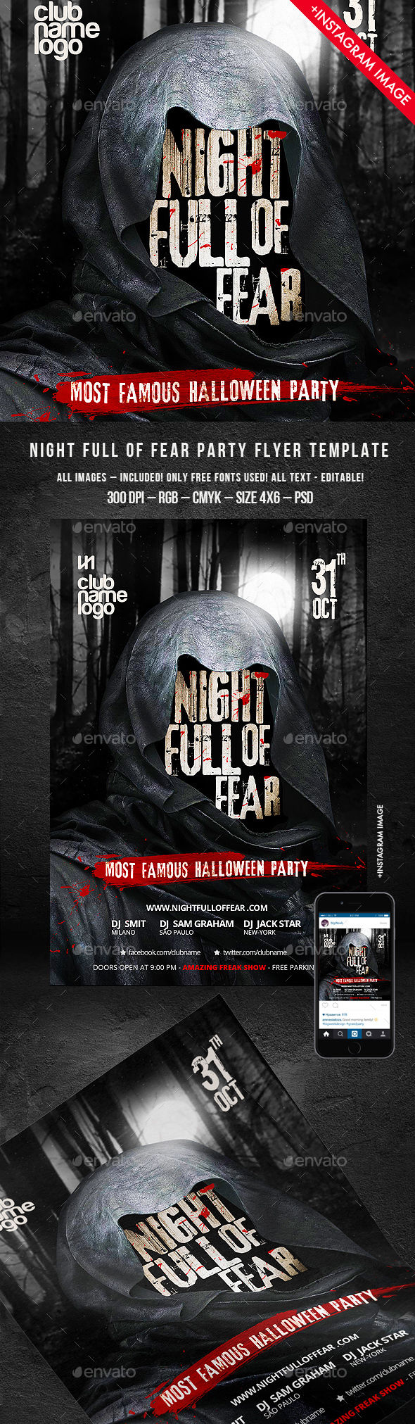 Halloween Flyer by BigWeek (Halloween party flyer)