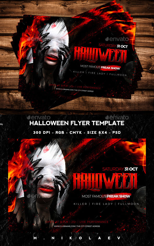 Halloween Flyer by Nikolaev_ws (Halloween party flyer)