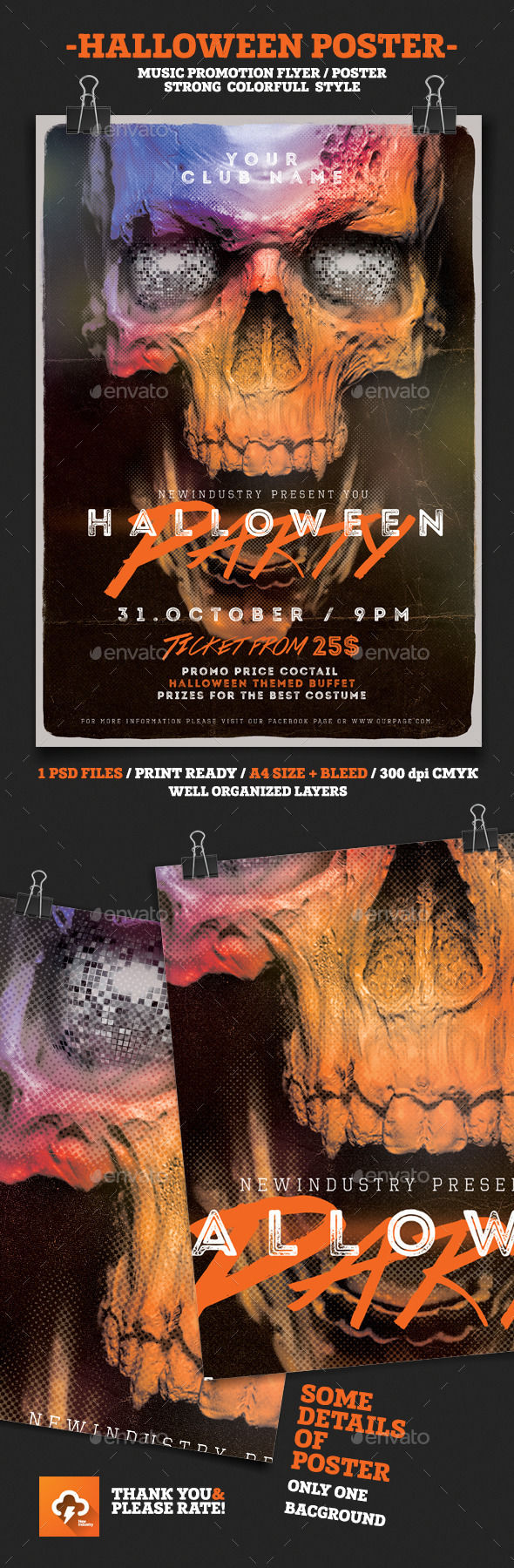 Halloween House Party by NewIndustry (Halloween party flyer)