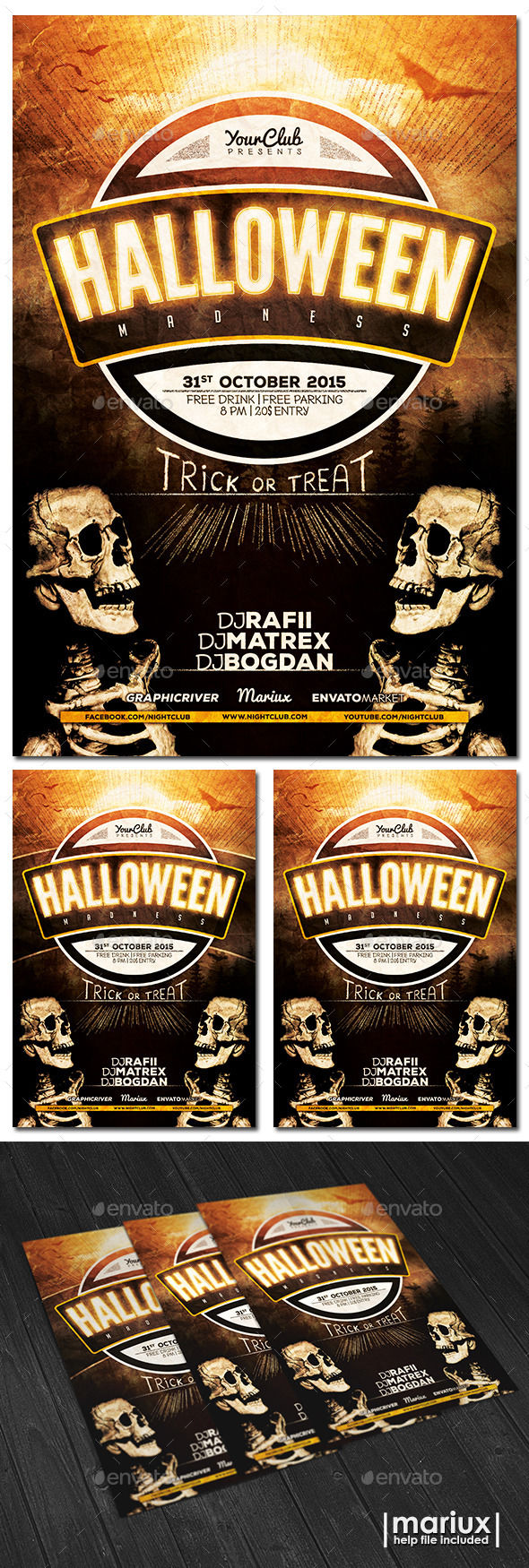 Halloween Party Flyer by Mariux (Halloween party flyer)