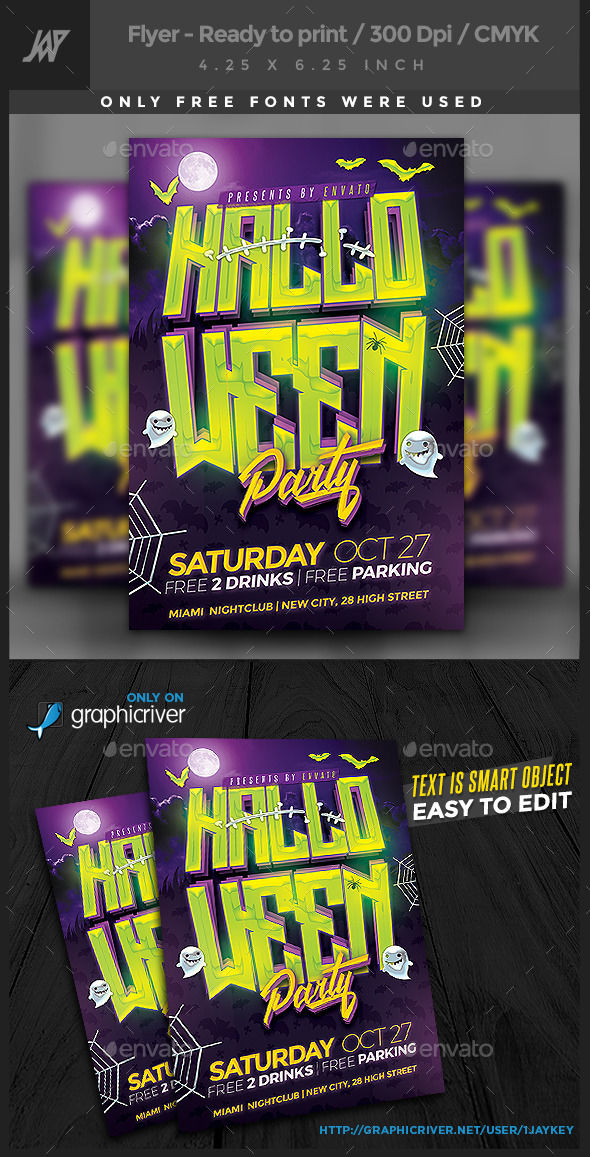 Halloween Party Flyer by 1jaykey (Halloween party flyer)