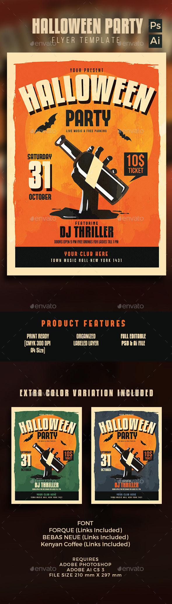 Halloween Party Flyer by Guuver (Halloween party flyer)