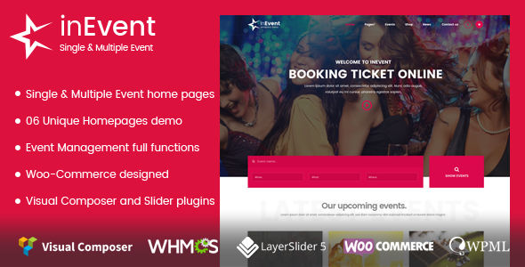 InEvent by Inwavethemes (event & conference WordPress theme)