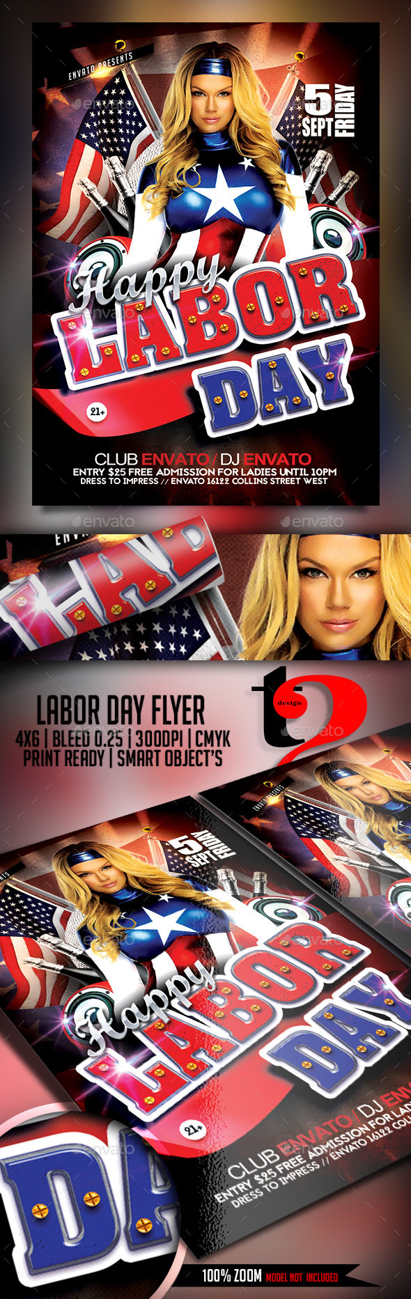Labor Day Flyer by Take2Design (Labor Day party flyer)