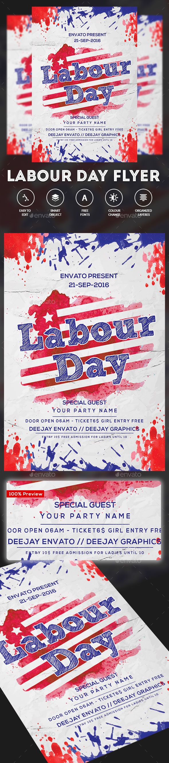 Labor Day Flyer by DUrgaDesigns (Labor Day party flyer)