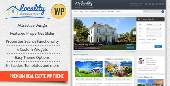 Locality by InspiryThemes (real estate and realtor WordPress theme)