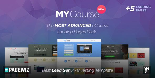 MYCourse by PixFort (landing page template for PageWiz)