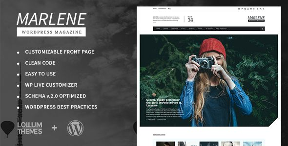 Marlene by Lollum (magazine WordPress theme)