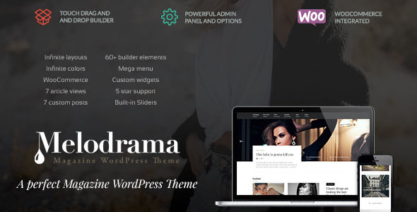 Melodrama by Upcode (magazine WordPress theme)