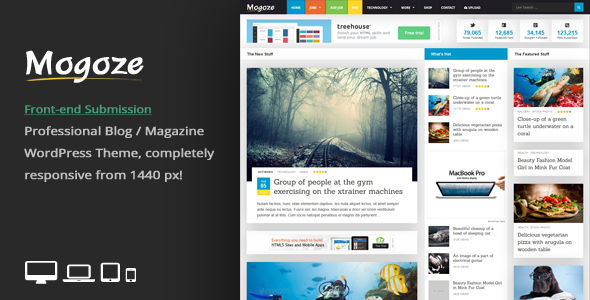 Mogoze by An-Themes (WordPress theme with infinite scrolling)