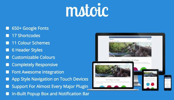 Mstoic by Mstoic (WordPress theme with infinite scrolling)