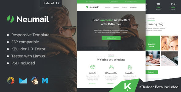 Neumail by Kithemes (email templates for use with Mailchimp)