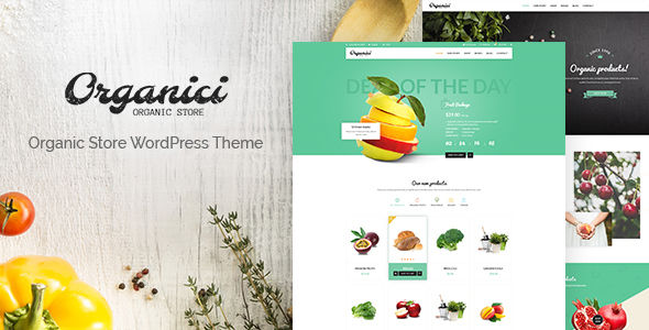 Organici by NooTheme (WordPress theme for bakeries, cafes and food retail stores)