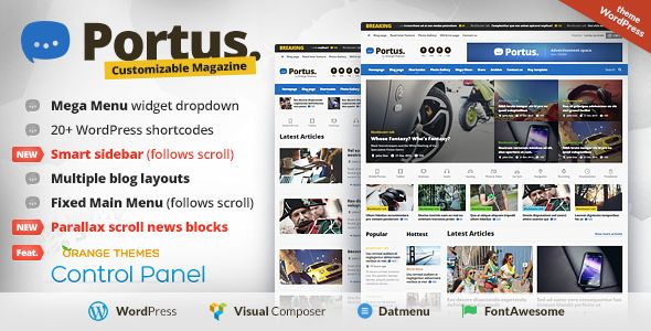 Portus by Orange-themes (magazine WordPress theme)