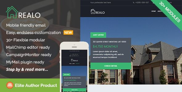 Realo by Saputrad (email templates for use with Mailchimp)