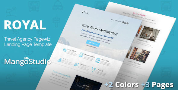 Royal by MangoStudio (landing page template for PageWiz)