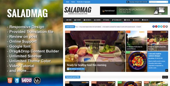 SaladMag by Jellywp (WordPress theme with infinite scrolling)