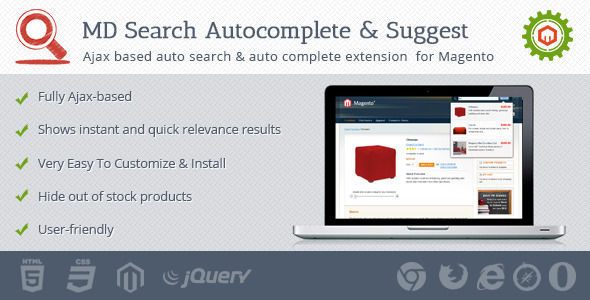 Search Autocomplete And Suggest by Mage-drive (Magento extension)