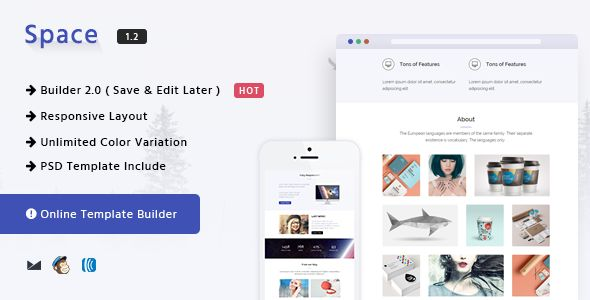 Space by CastelLab (email templates for use with Mailchimp)
