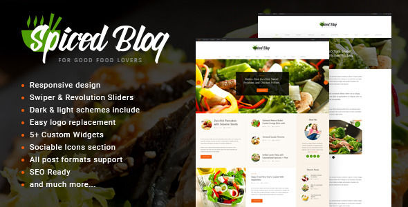 Spiced Blog by Axiomthemes (magazine WordPress theme)