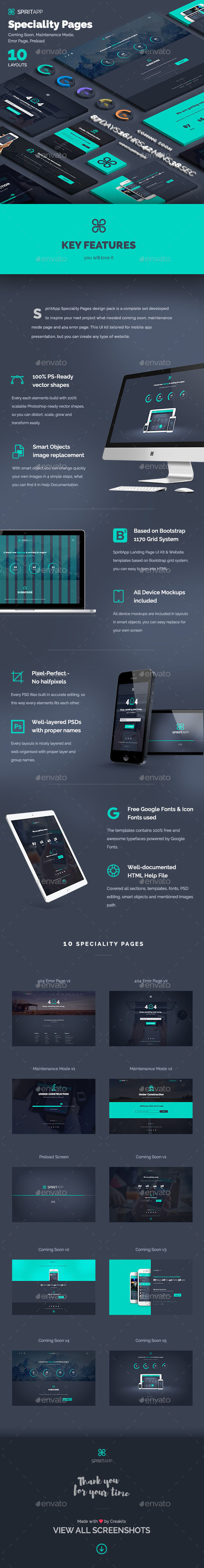 SpiritApp Speciality Pages by AddtoFavorites (layered 404 page template)