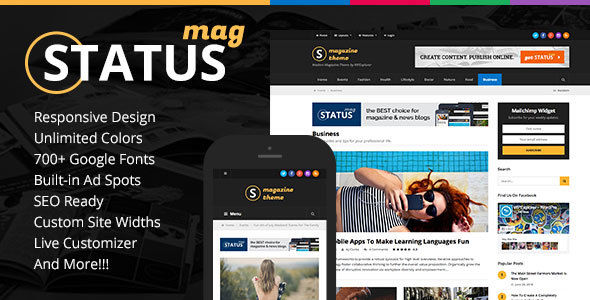 Status Responsive News by WPExplorer (magazine WordPress theme)
