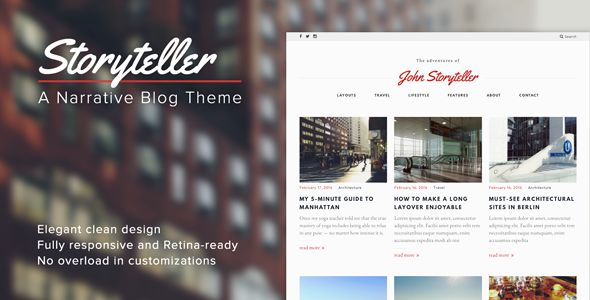 Storyteller by MauerThemes (magazine WordPress theme)