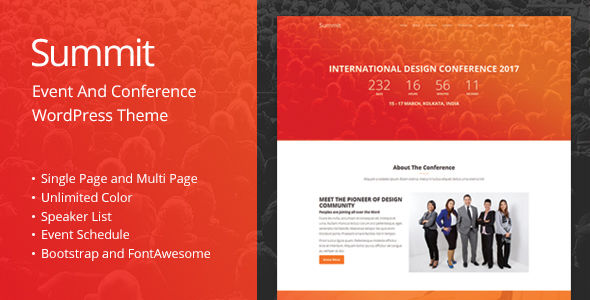 Summit by GBJsolution (event & conference WordPress theme)