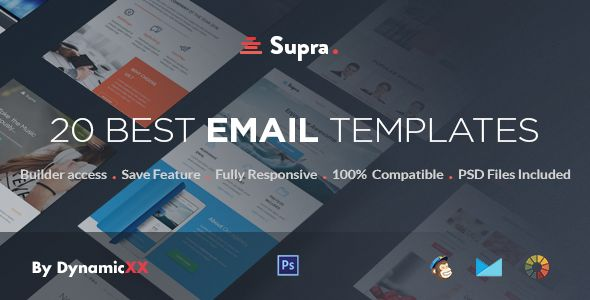 Supra by DynamicXX (email templates for use with Mailchimp)