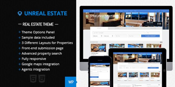 Unreal Estate by FinalDestiny (real estate and realtor WordPress theme)