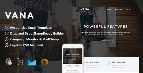 Vana by LEVELII (email templates for use with Mailchimp)