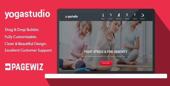 Yoga Studio by Ilmosys (landing page template for PageWiz)