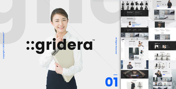 Gridera by KozyonThemes (multi-purpose WordPress theme)