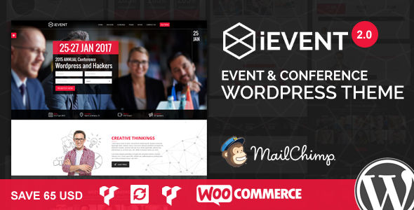 IEvent by Janxcode (event & conference WordPress theme)