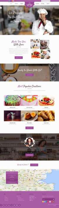 Cakery - Cake WordPress Theme