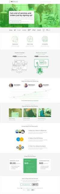 MYSERVICE - SaaS Product Landing Page Template